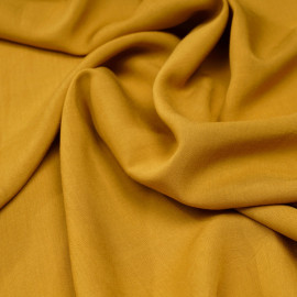 Tissu viscose ocre x 10 cm