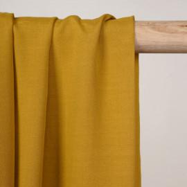 Tissu viscose ocre - Pretty Mercerie - mercerie en ligne