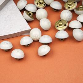 Bouton métal demi sphère gris vaporeux effet craquelé or 17 mm - Pretty Mercerie - mercerie en ligne