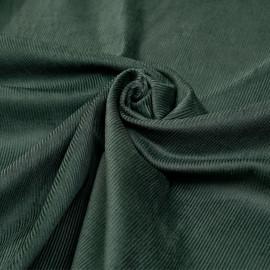 Tissu velours milleraie coton vert thym x 10 cm