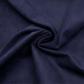 Tissu velours milleraie coton bleu graystone x 10 cm