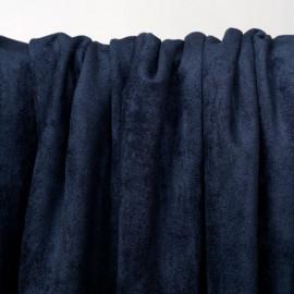 Tissu suédine bleu insignia  - pretty mercerie - mercerie en ligne