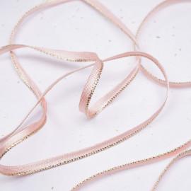 passepoil rosé et doré - pretty mercerie - mercerie en ligne
