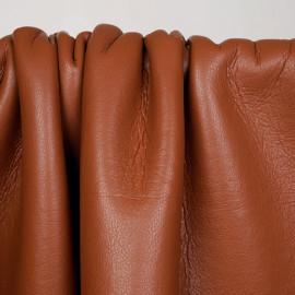 Tissu simili cuir terre d'argile et fourrure effet mouton - pretty mercerie - mercerie en ligne