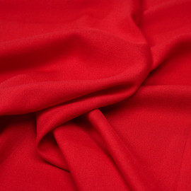 Tissu crêpe proviscose true red - pretty mercerie - mercerie en ligne