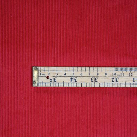 Tissu velours côtelé coton rouge scarlet - pretty mercerie - mercerie en ligne