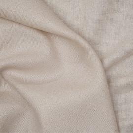 tissu lainage léger tapioca et fil d'or x 10cm