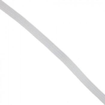 Élastique plat blanc 6 mm