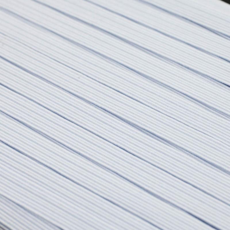 Elastic flat white 6 mm
