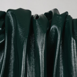 Tissu simili cuir texturé jungle green - pretty mercerie - mercerie en ligne