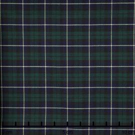 Tissu coton et lycra tartan bleu et vert - pretty mercerie - mercerie en ligne