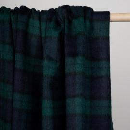 Tissu drap de laine tartan bleu et vert - pretty mercerie - mercerie en ligne