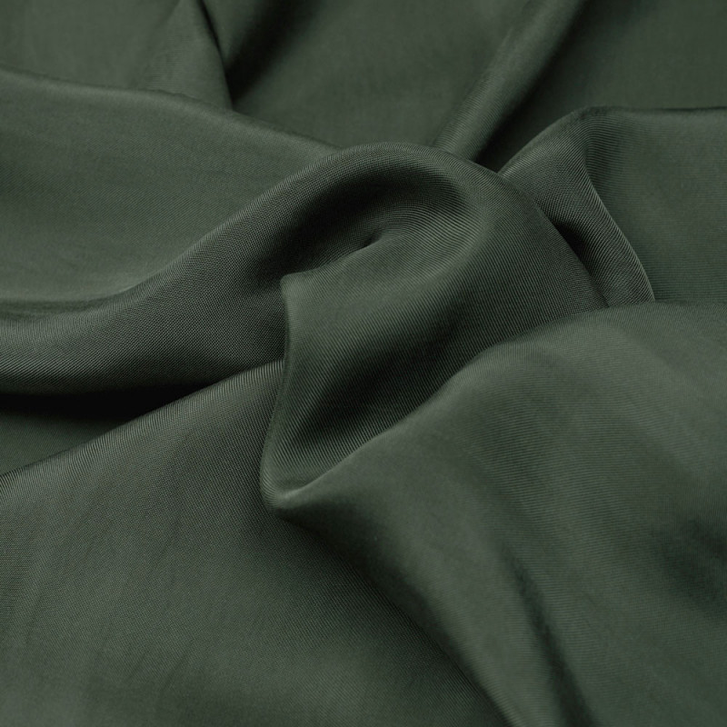 Tissu cupro vert olive - pretty mercerie - mercerie en ligne