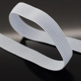 Élastique plat blanc 10 mm