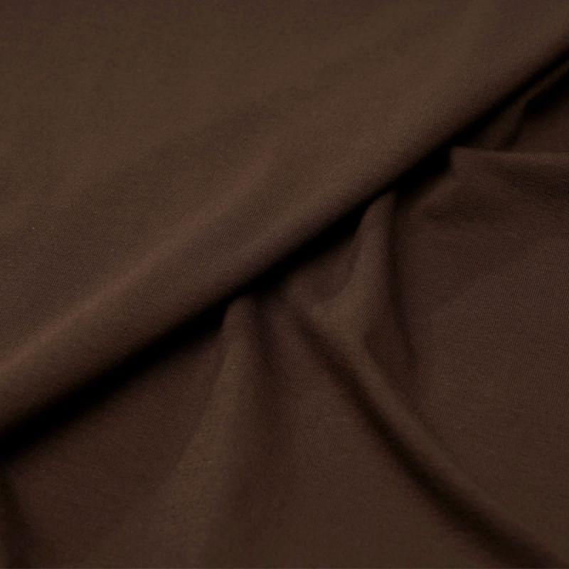 Tissu maille jersey cacao - pretty mercerie - mercerie en ligne
