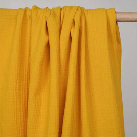 tissu double gaze de coton mimosa - pretty mercerie - mercerie en ligne