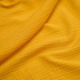 tissu double gaze de coton mimosa x 10 cm