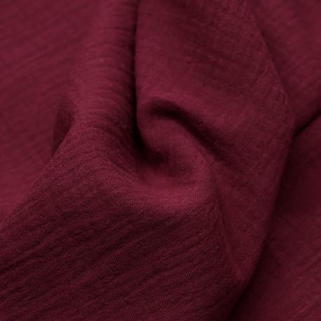 tissu double gaze de coton rumba red  - pretty mercerie - mercerie en ligne