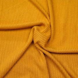 Tissu maille jersey bambou sunflower côtelé x 10cm