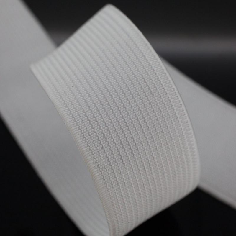 Élastique plat blanc 25 mm
