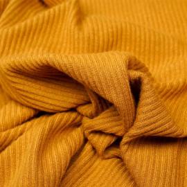 Tissu maille jersey bambou sunflower côtelé  - pretty mercerie - mercerie en ligne