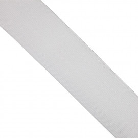 Élastique plat blanc 38 mm