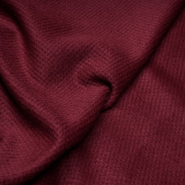 Tissu drap de laine ruby wine x 10cm