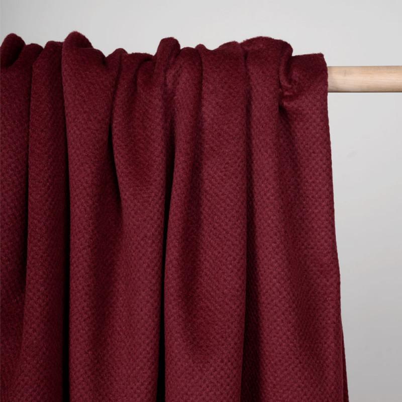 Tissu drap de laine ruby wine - pretty mercerie - mercerie en ligne