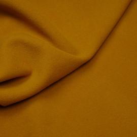Tissu drap de laine moutarde foncé x 10cm