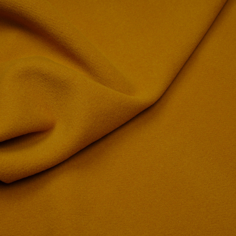 Tissu drap de laine moutarde foncé  - pretty mercerie - mercerie en ligne