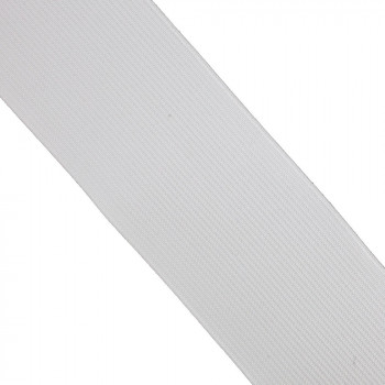 Élastique plat blanc 50 mm