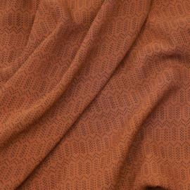 Tissu soie argile à motif pois graphique noir X 10 cm