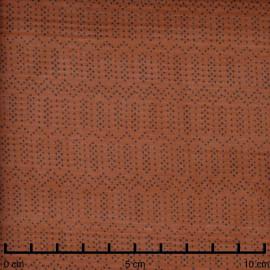 Tissu soie argile à motif pois graphique noir  - pretty mercerie - mercerie en ligne
