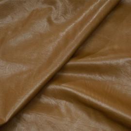 Tissu simili cuir texturé toffee x 10cm