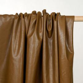 Tissu simili cuir texturé toffee - pretty mercerie - mercerie en ligne