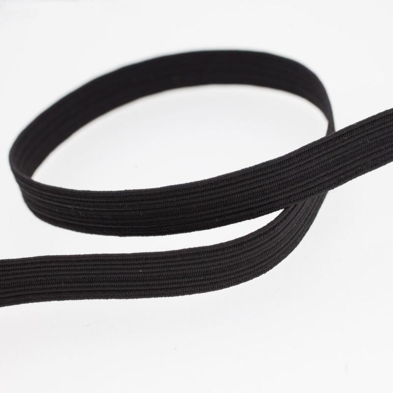 Élastique plat noir 8 mm