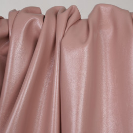 Tissu simili cuir texturé rose dawn  -pretty mercerie - mercerie en ligne