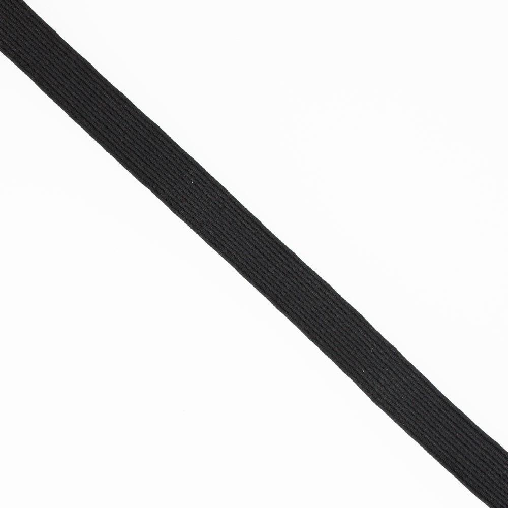 Élastique plat noir 10 mm