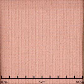 Tissu laine gaufré rose corail  - pretty mercerie - mercerie en ligne