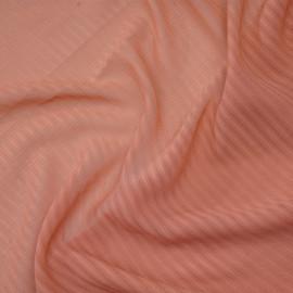 Tissu soie rose terra cotta rayé - pretty mercerie - mercerie en ligne