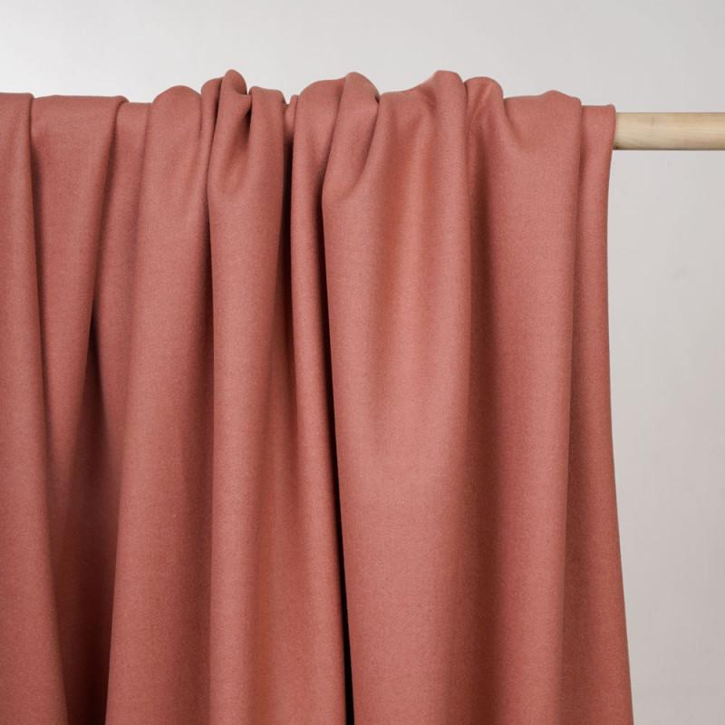Tissu lainage rose terra cotta  - pretty mercerie - mercerie en ligne
