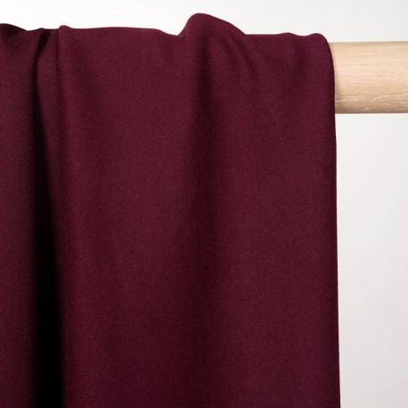 Tissu de sport stretch respirant bordeaux - pretty mercerie - mercerie en ligne
