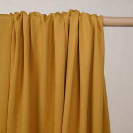 Tissu de sport stretch respirant moutarde - pretty mercerie - mercerie en ligne