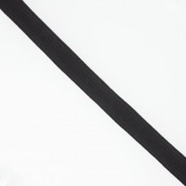 Élastique plat noir 12 mm
