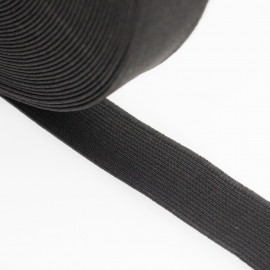 Élastique plat noir 18 mm