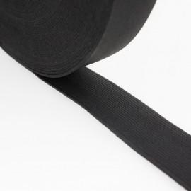Élastique plat noir 25 mm
