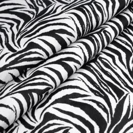 Tissu jacquard zèbre noir et blanc x 10 CM