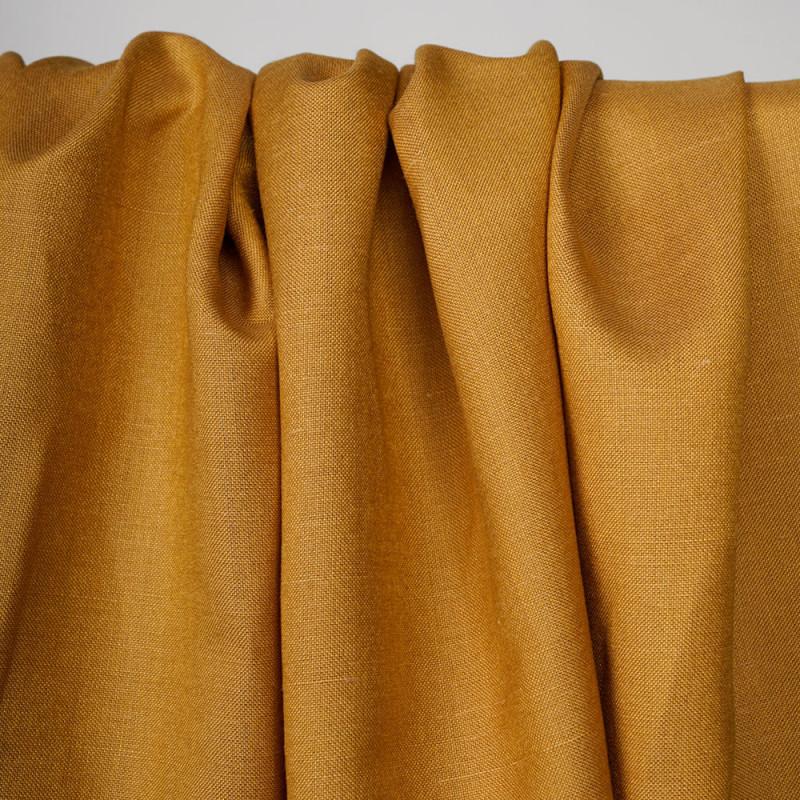 Tissu lin et viscose amber gold - pretty mercerie - mercerie en ligne