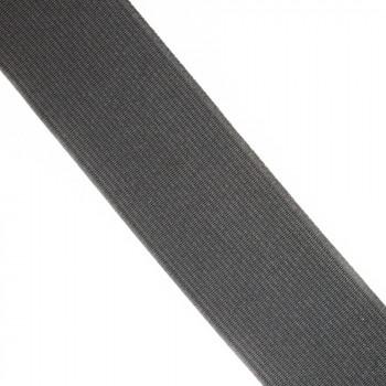 Élastique plat noir 38 mm
