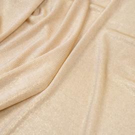 Tissu maillot de bain beige et paillettes or  x 10cm